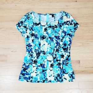 Ann Taylor floral print top size small